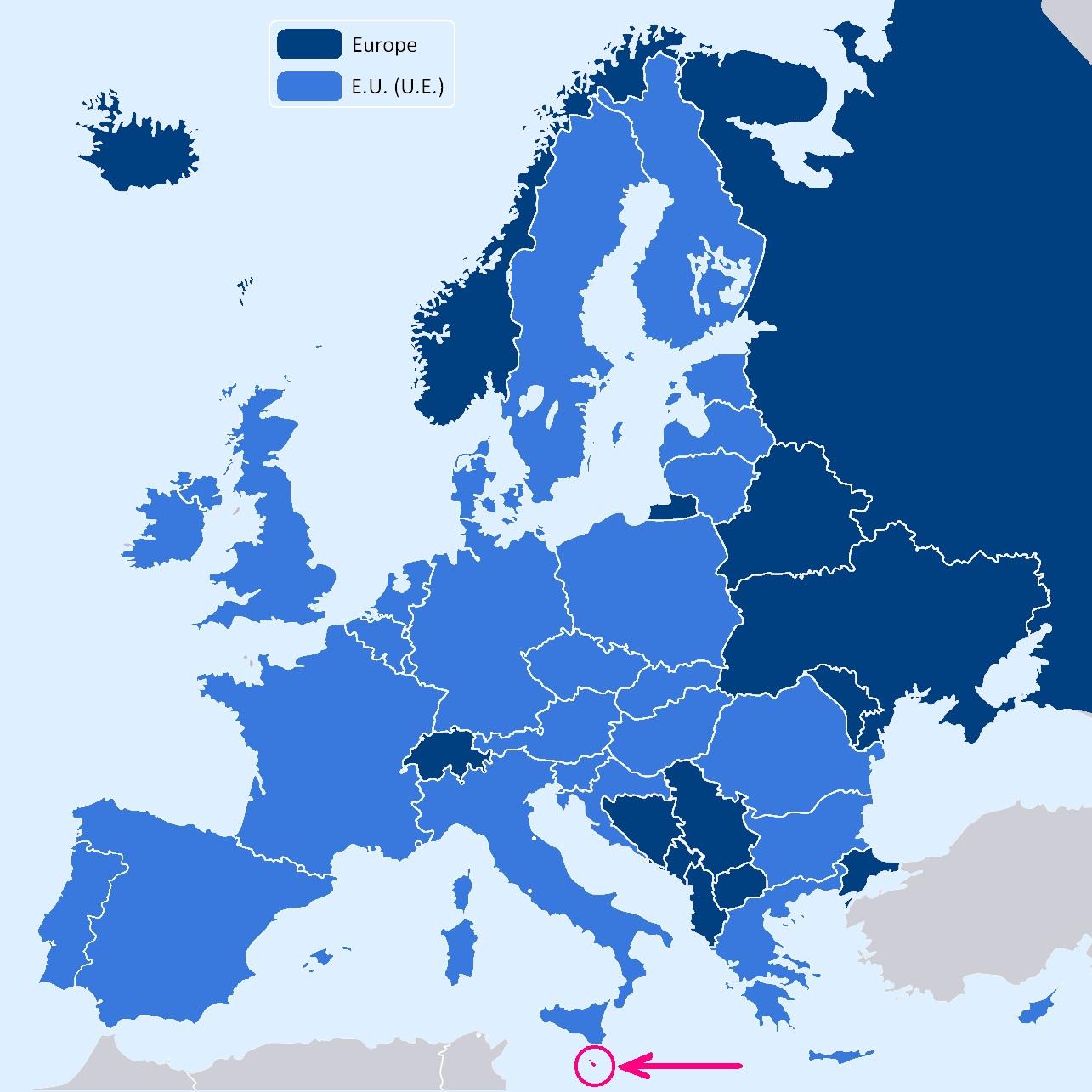 malte carte du monde - Photo