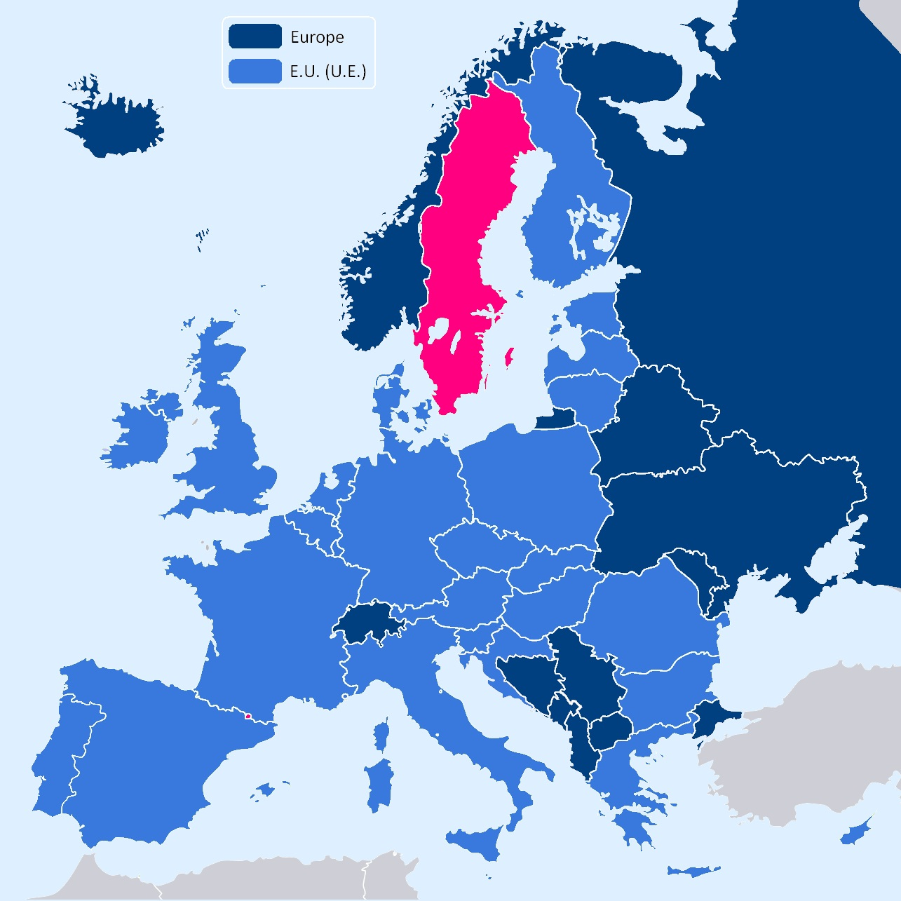 la suede carte europe