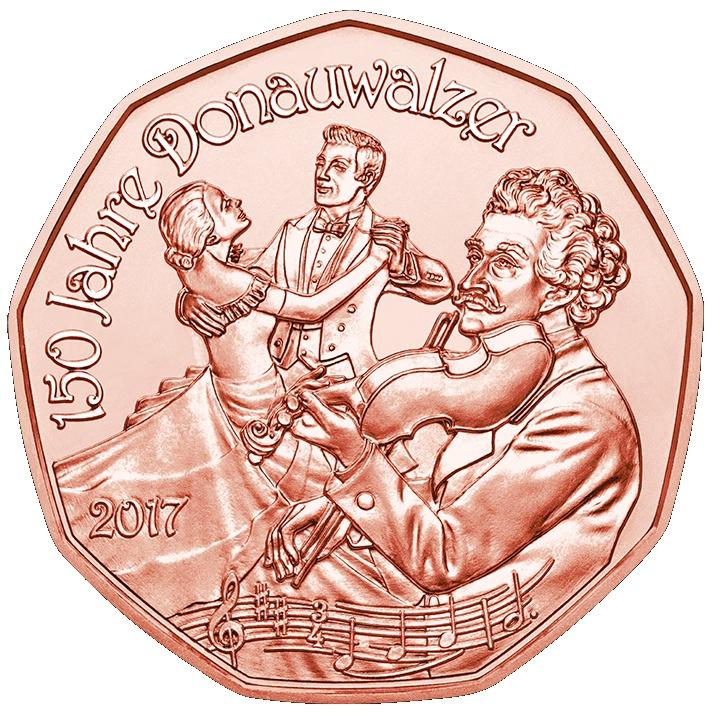 5 Euro Autriche Nouvel An 2017 Cuivre